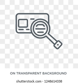 Credit reference agency icon. Credit reference agency design concept from Credit reference agency collection. Simple element vector illustration on transparent background.