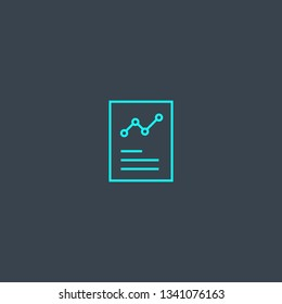 Credit report concept blue line icon. Simple thin element on dark background. Credit report concept outline symbol design. Can be used for web and mobile UI/UX