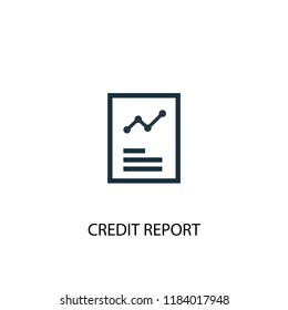Credit report icon. Simple element illustration. Credit report concept symbol design. Can be used for web and mobile.