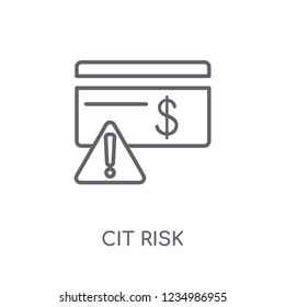 credit risk linear icon. Modern outline credit risk logo concept on white background from General collection. Suitable for use on web apps, mobile apps and print media.