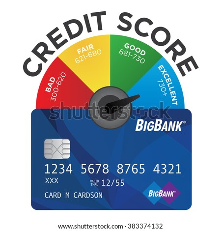 Credit Score Chart Pie Graph Realistic Stock Vector Royalty Free