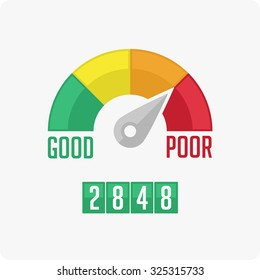 Credit Score Gauge. Vector EPS 10.