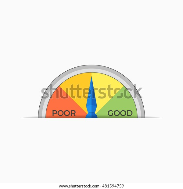 Credit Score Scale Showing Value Vector Stock Vector