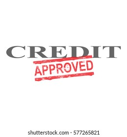Credit word with approved stamped across it
