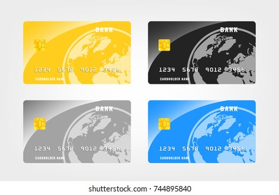 Credits card set vector