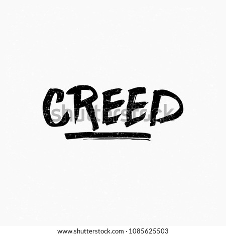 Creed Ink hand lettering