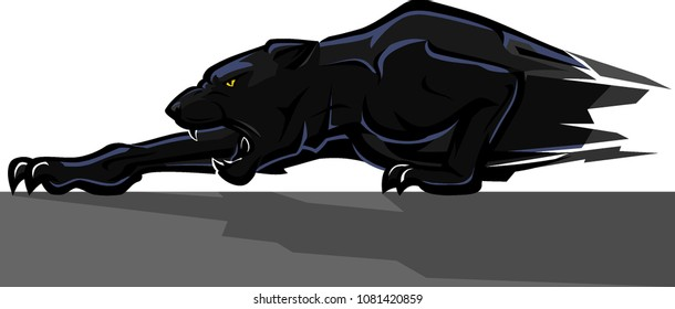 Creeping Black Panther Abstract
