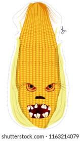 Creepy corn monster mask