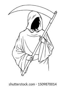 Grim Reaper Drawing Images Stock Photos Vectors Shutterstock