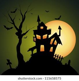 Creepy Old Halloween Horrable House