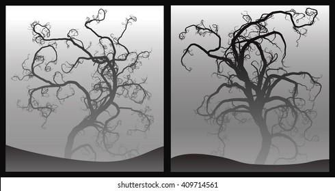 Creepy scary trees