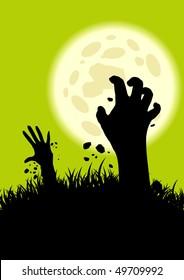 creepy zombie hand background