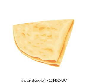Crepe icon isolated on white. Vector illustration.