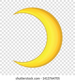 Crescent moon icon. Cartoon illustration of crescent moon vector icon for web design