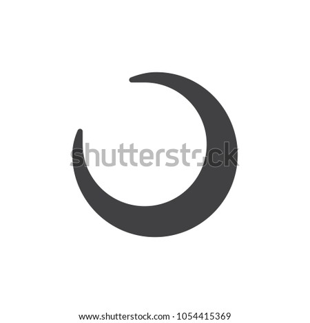 Crescent Moon Icon Vector Filled Flat Stock Vector Royalty Free