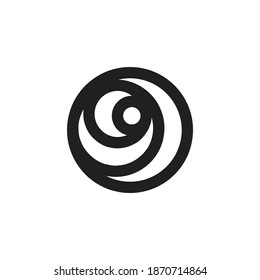 crescent moon on circle modern logo design. crescent logo on white background vector template