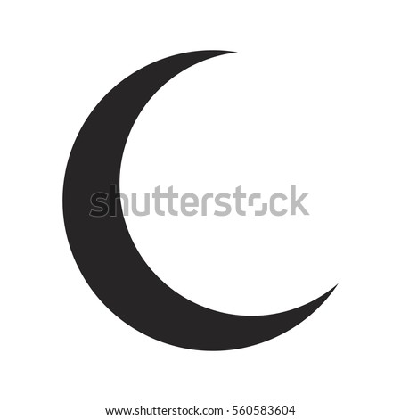 Crescent Moon Silhouette Vector Symbol Icon Stock Vector Royalty