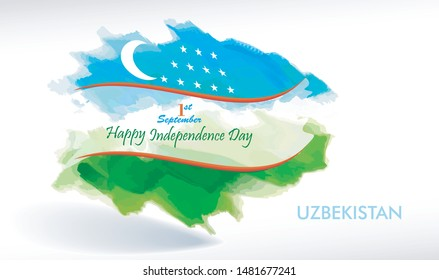 The crescent moon and the stars on the flag of Uzbekistan