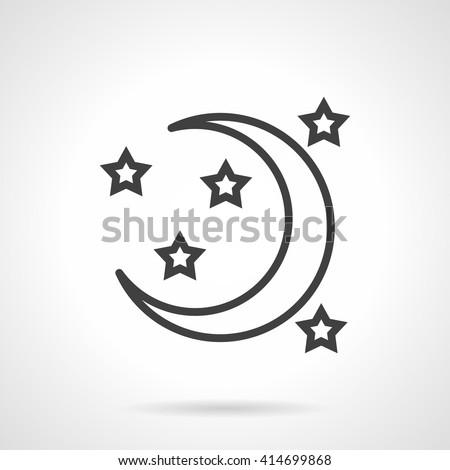 Crescent New Moon Stars Symbol Night Stock Vector Royalty Free