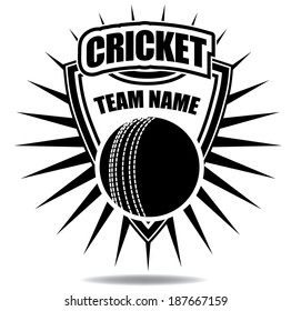 Cricket badge icon symbol  EPS 10 vector, grouped for easy editing. No open shapes or paths.
