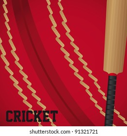 cricket ball textured with cricket ball background. vector