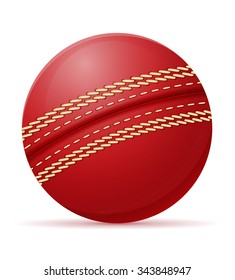 cricket ball vector illustration isolated on white background