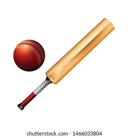 cricket bat with ball can change color vector design - Vector