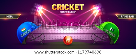 Cricket championship banner with
