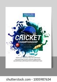 Cricket championship batsman and bowler playing cricket