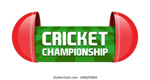 Cricket Championship Logo, Mnemonic, Symbol, Icon, Banner or Poster Design - Vector, Illustration