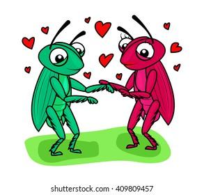 Cricket couple love