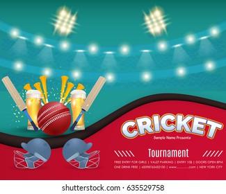 Cricket Tournament Banner Images Stock Photos Vectors