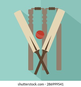 Cricket. flat vector