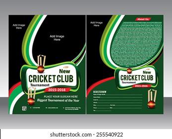 cricket flyer template vector illustration