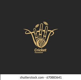 Cricket game icon, vector illustration
