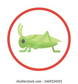 Cricket icon. Insect concept. Vector illustration.