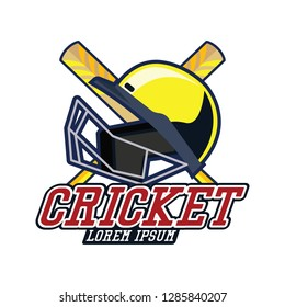 cricket logo with text space for your slogan / tag line, vector illustration