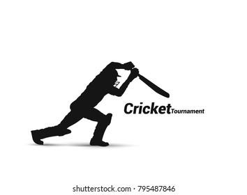Cricket player playing cricket, bat and wicket, uniform, helmet, vector illustration