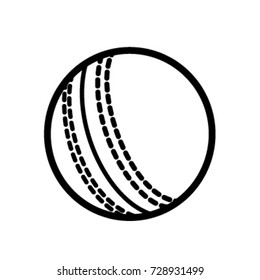 cricket sport line icons ball