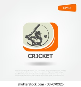 cricket sport logo. Sport game