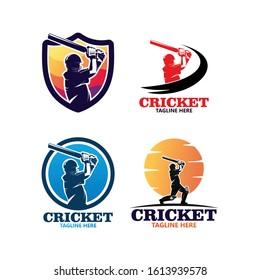 Cricket Sport Logo Template Design