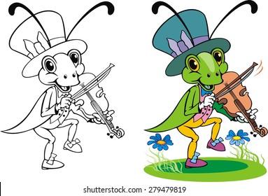 crickets music cartoon