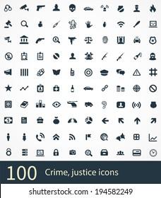 crime Icons Vector set