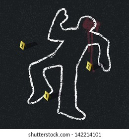 Crime scene illustration, vector