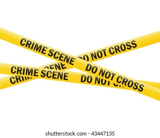 crime scene tape (vector)