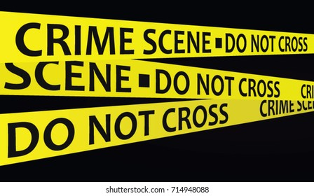 Crime scene tape. vector illustration
