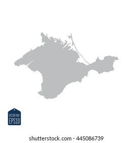 Crimea map silhouette