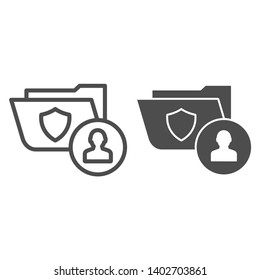 Criminal case line and glyph icon. Law document vector illustration isolated on white. Personal case outline style design, designed for web and app. Eps 10