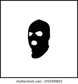 criminal mask black icon vector illustration