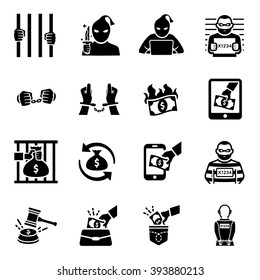 Criminal Thief Vector Icon Set
